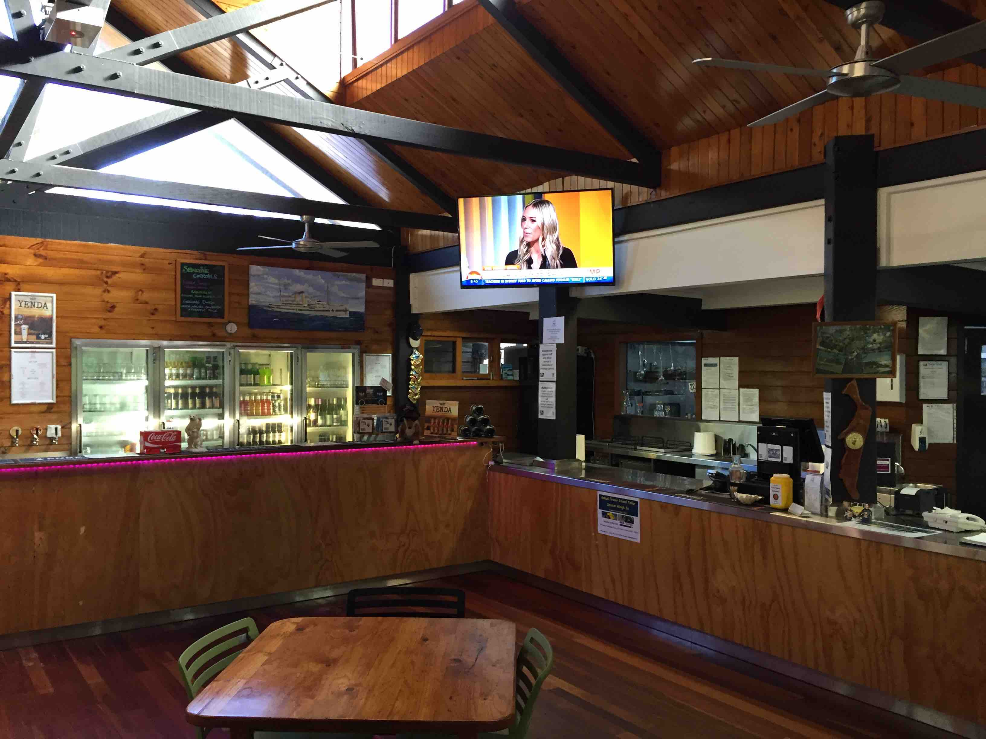Bar towards glass wash | Fraser Island Retreat | Happy Valley