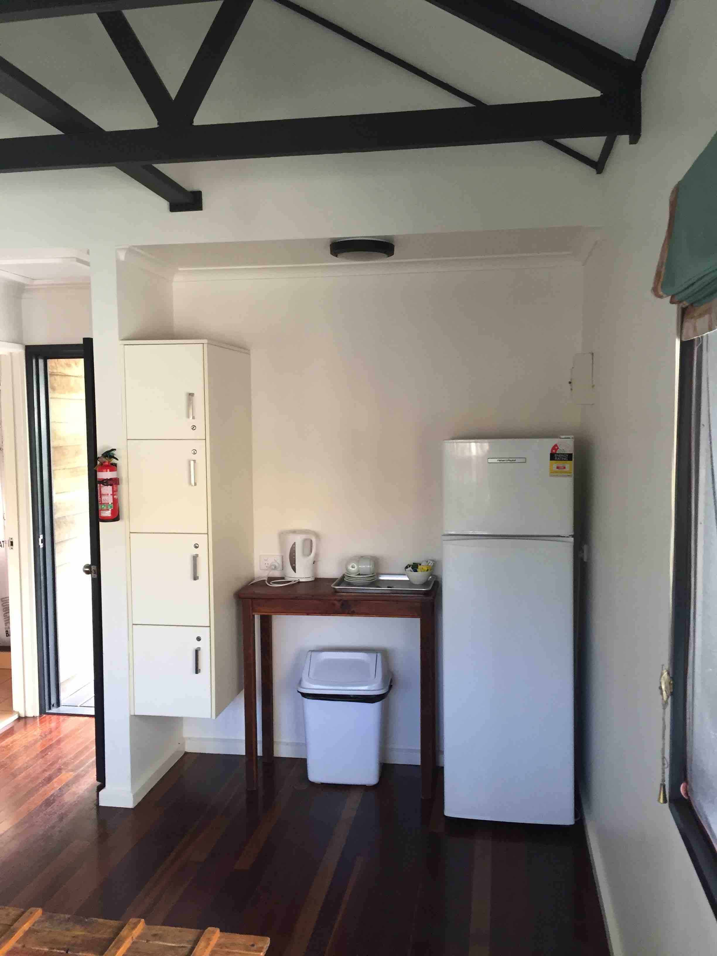Cabins tea facilities | Fraser Island Retreat | Happy Valley