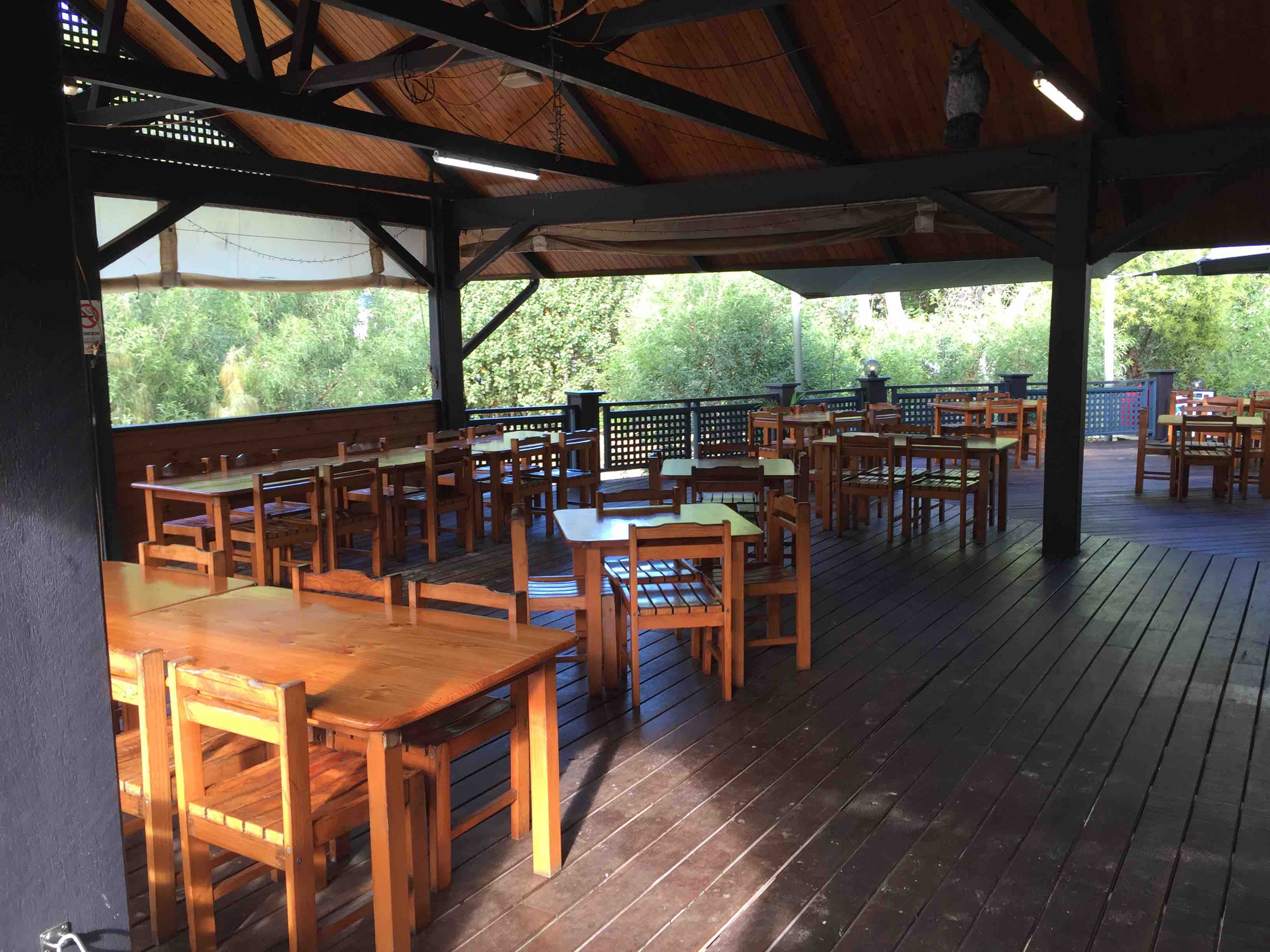 Deck covered area | Fraser Island Retreat | Happy Valley