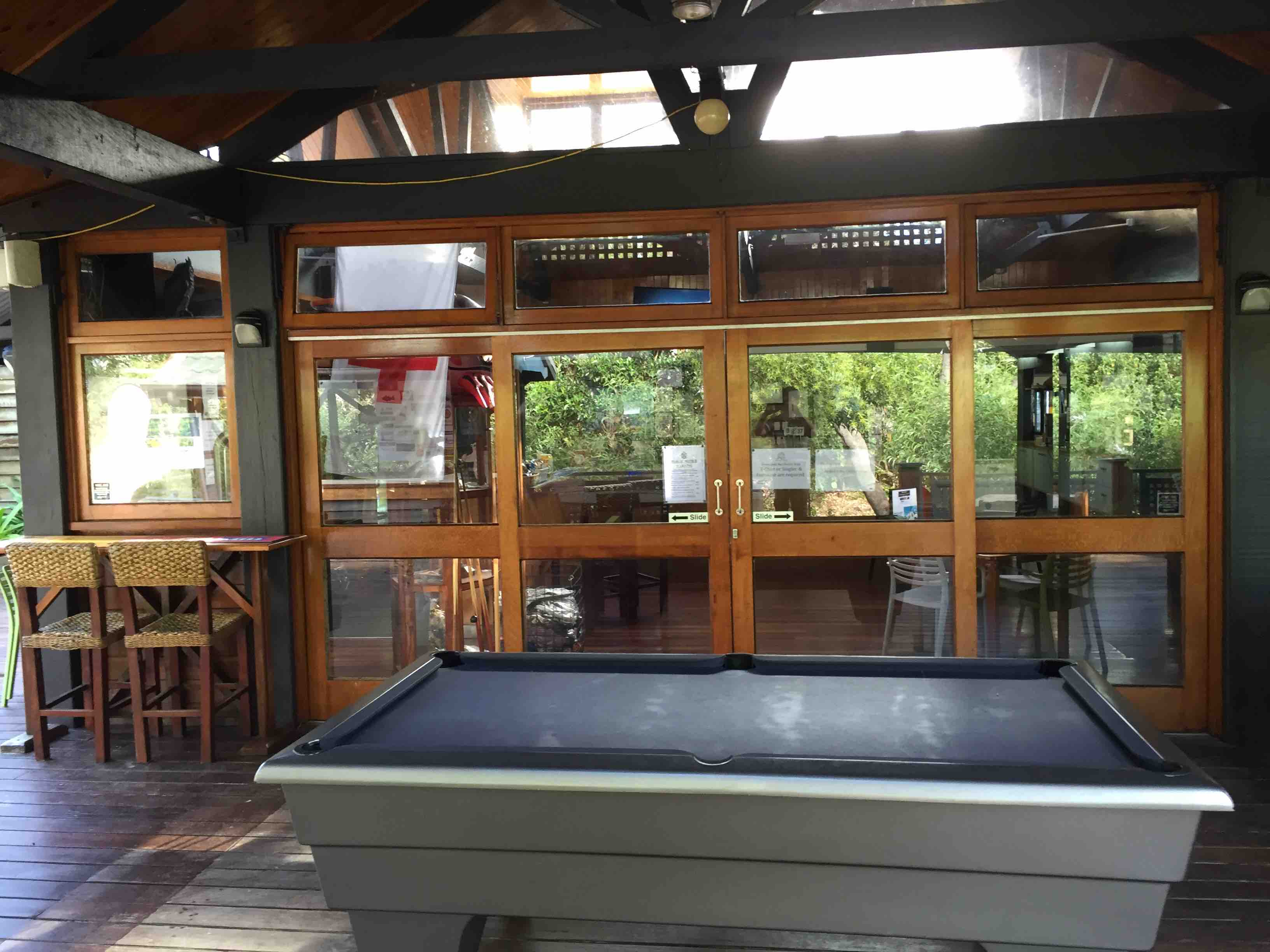 Deck pool table | Fraser Island Retreat | Happy Valley