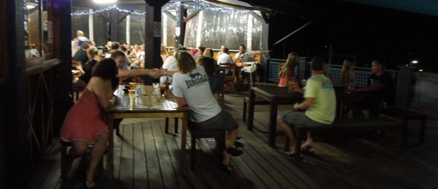 Deck at Night  | Fraser Island Retreat | Happy Valley
