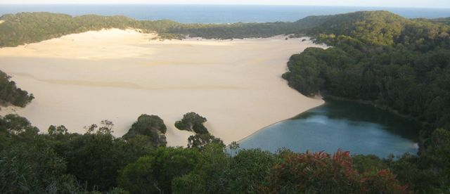 Lake Wabby from lookout | Fraser Island Retreat | Happy Valley