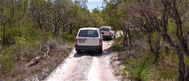 Sand track driving | Fraser Island Retreat | Happy Valley