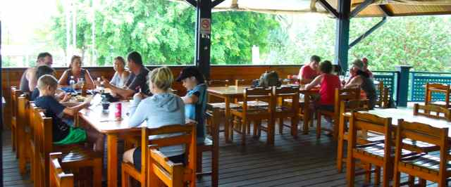 Satiny Bistro deck dining | Fraser Island Retreat | Happy Valley