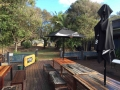 Deck area open view to west | Fraser Island Retreat | Happy Valley