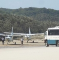 Plane and Bus on Beach | Fraser Island Retreat | Happy Valley