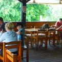 Satiny Bistro deck dining | Fraser Island Retreat | Happy Valley